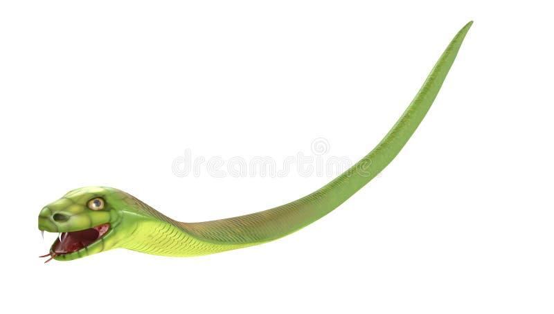 A cobra verde voa ou cai ilustração stock