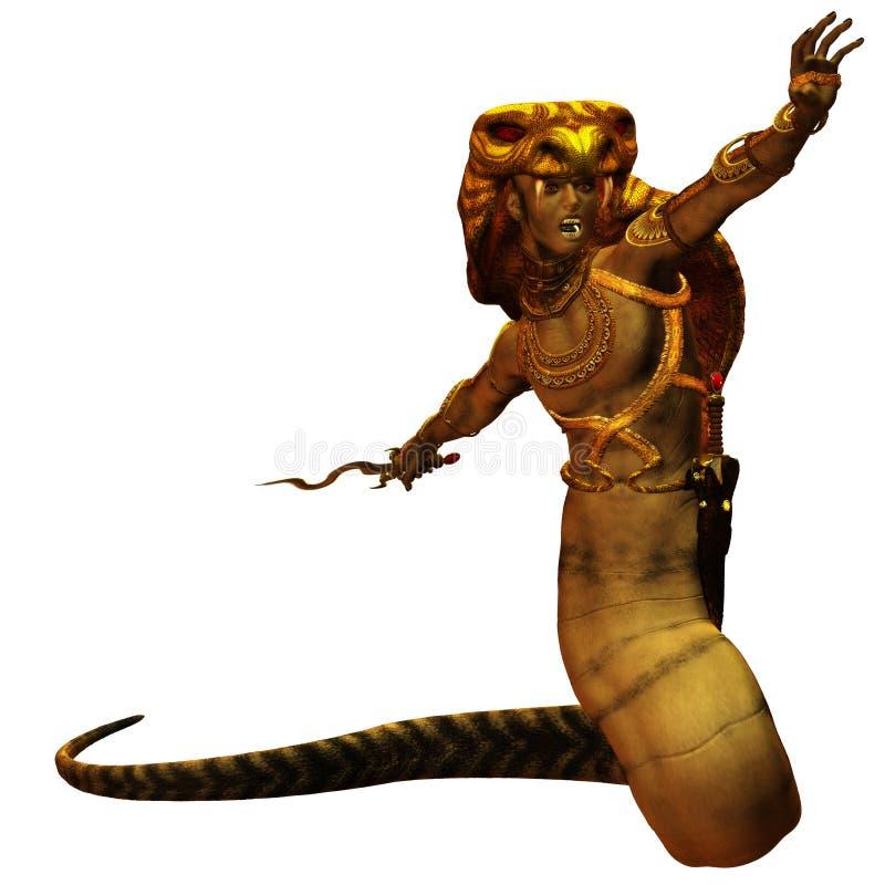 Cobraman stock illustratie