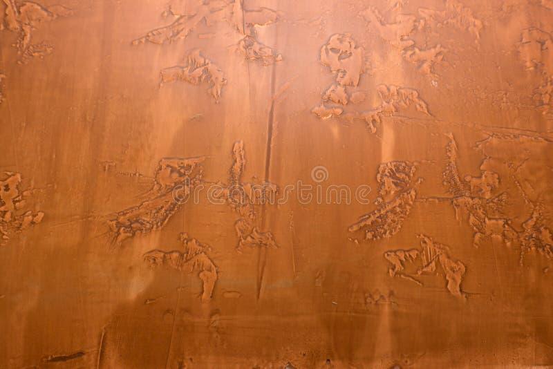 Cobre de la textura de los detalles del diseño de la decoración y manchado fotos de archivo
