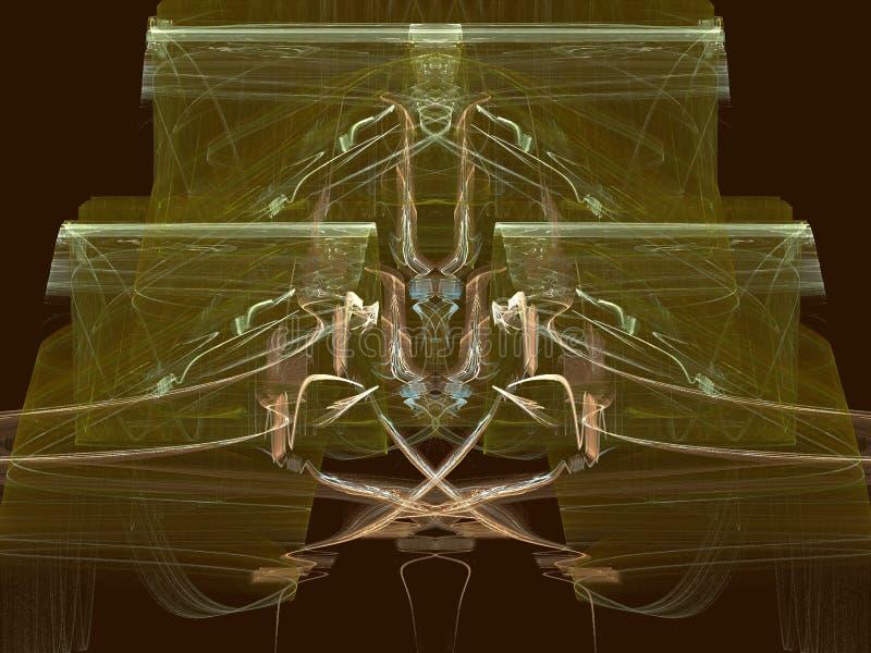 Cobre en el oro ilustración del vector