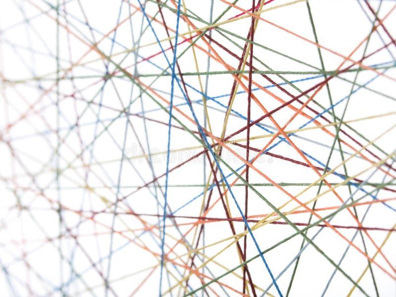 Cobweb das linhas com unsharpness fotos de stock