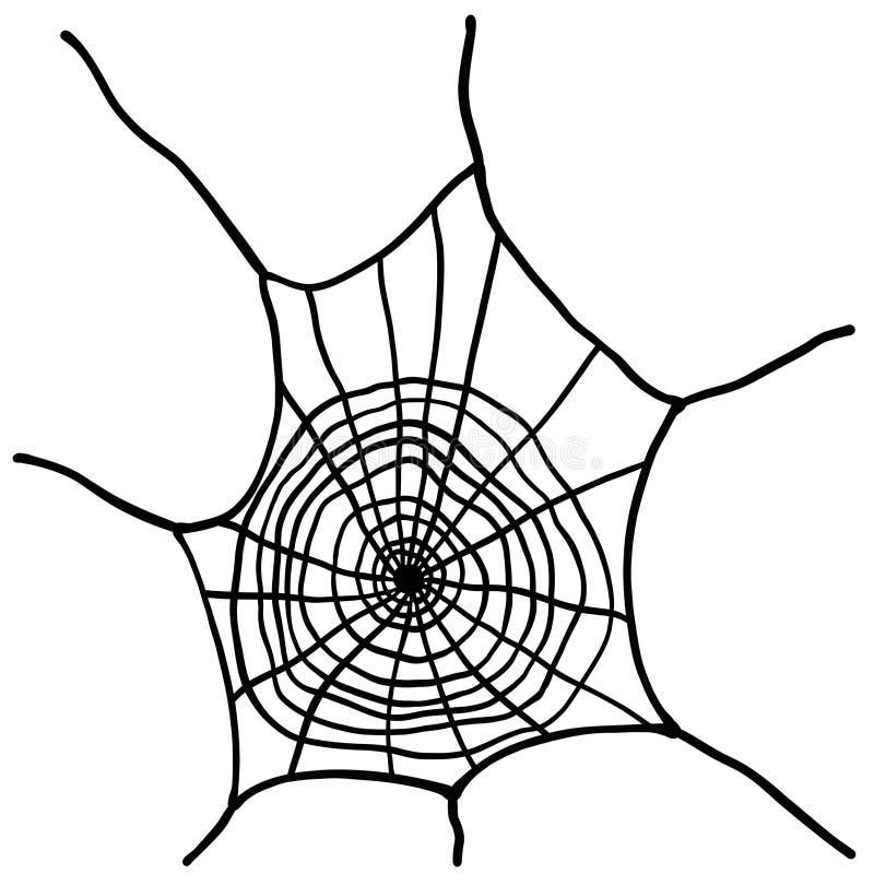 Cobweb Illustration d'une toile d'araignée noire sur fond blanc illustration stock