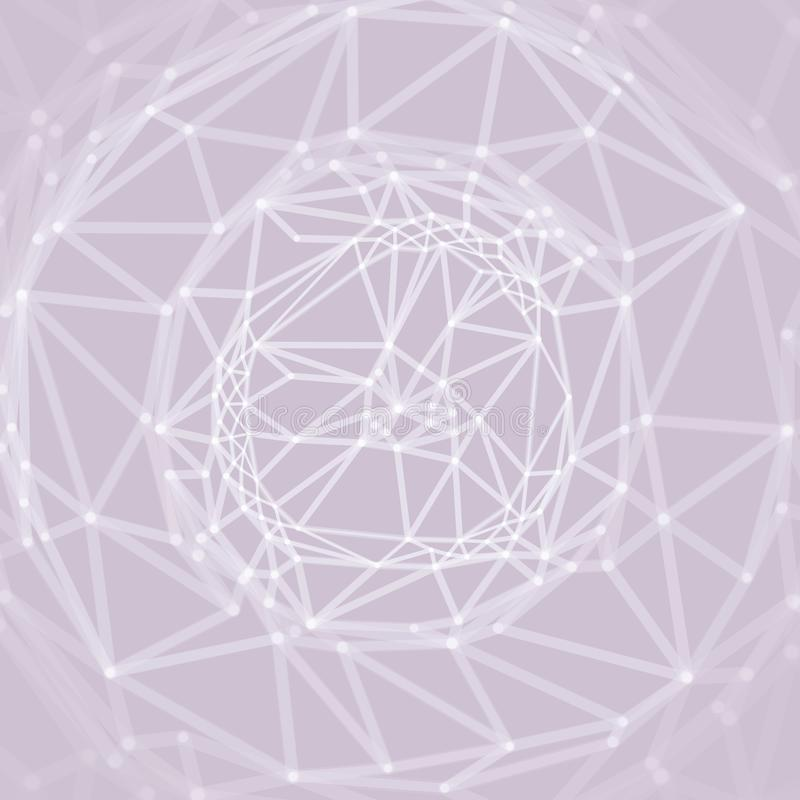 Cobweb or spider web. Network abstract background. Connection Structure. 3D technology style. Wireframe vector illustration.  royalty free illustration