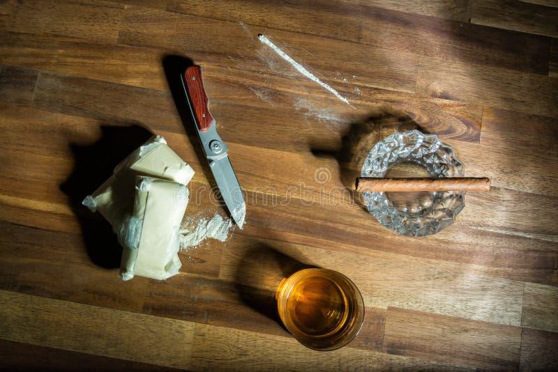 cocaína fotografia de stock royalty free
