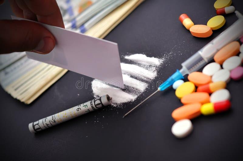cocaïne photographie stock