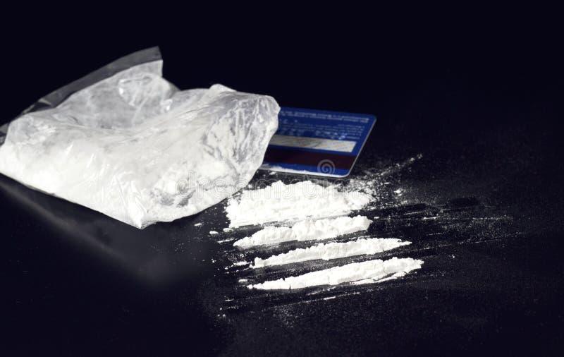 Cocaïne de carte image stock