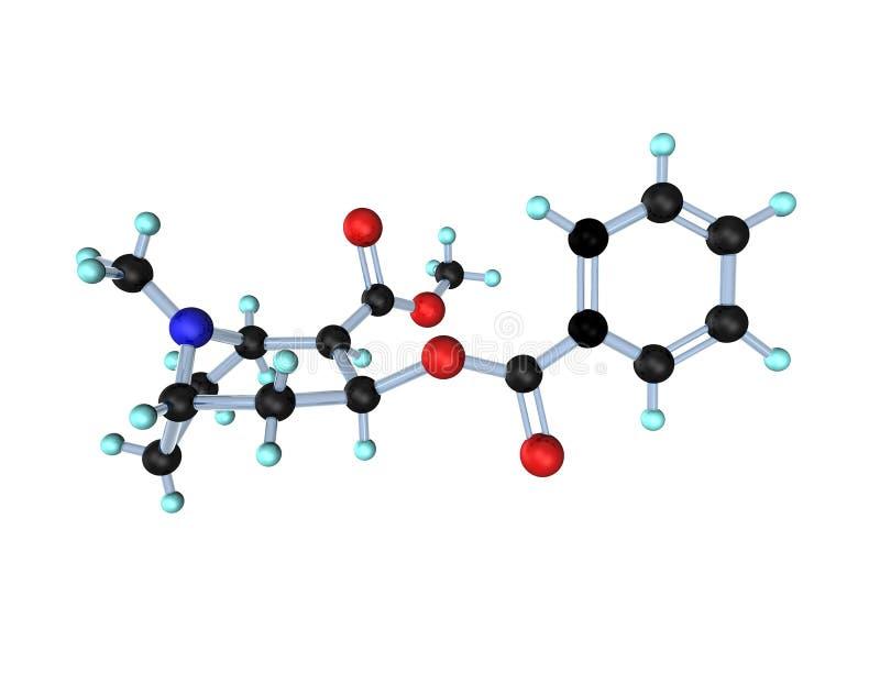 Cocaïne de molécule illustration libre de droits