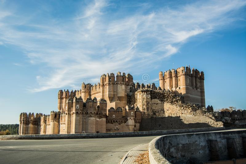 Coca Castle Segovia royaltyfria bilder