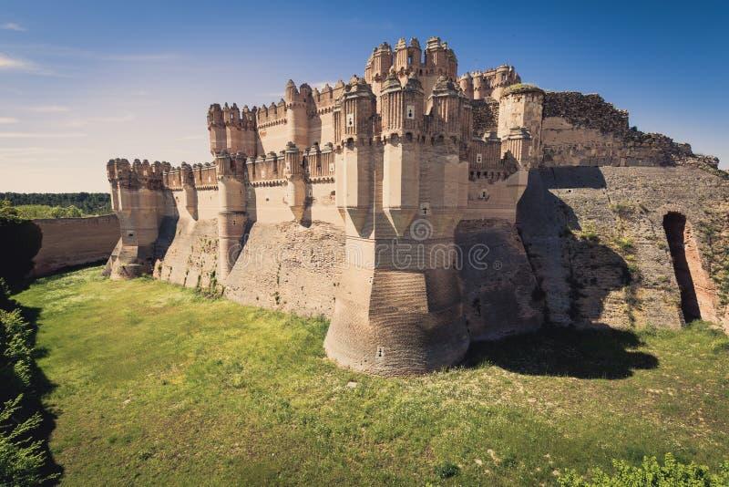 Coca Castle Segovia (Castilla y Leon), Spanien royaltyfria bilder