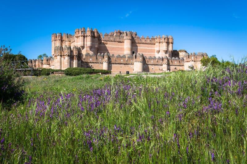 Coca Castle Segovia (Castilla y Leon), Spanien royaltyfri bild