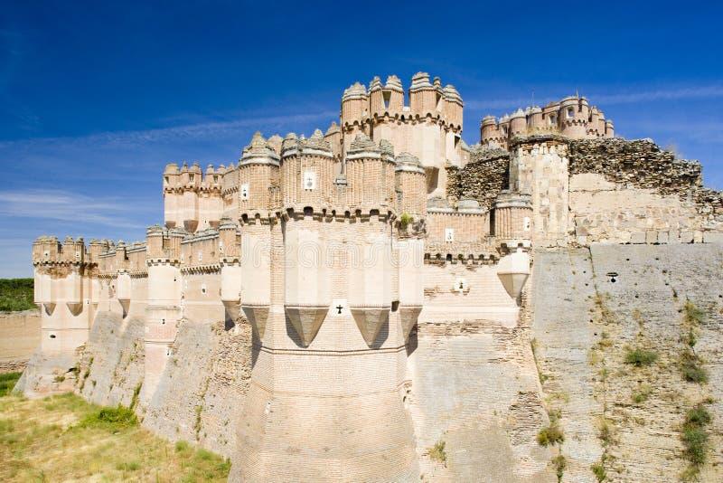 Coca Castle, Segovia-Provinz, Olivenölseife und Leon, Spanien stockfotografie