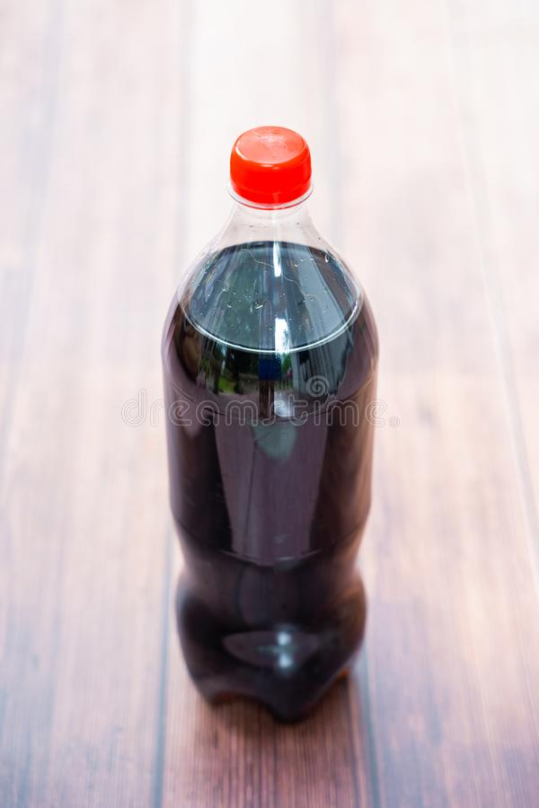 Coca cola in big plastic bottle. Sparkling water stock images