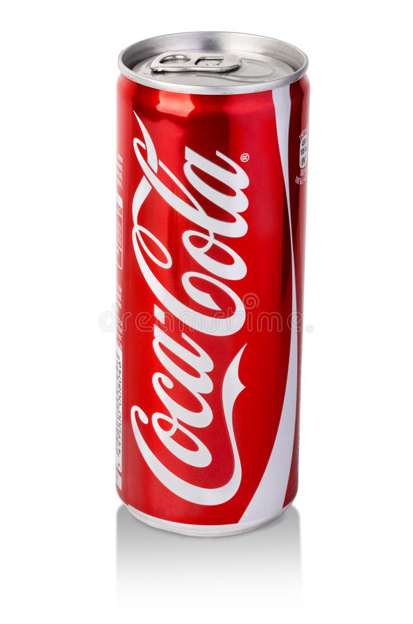 coca cola can on white background editorial photo image of white background 64145051. Black Bedroom Furniture Sets. Home Design Ideas