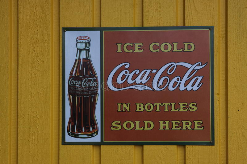 Coca-Cola in the fifties royalty free stock photo