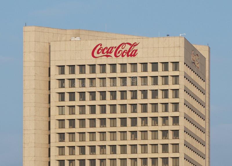 coca - cola headquarters världen royaltyfri fotografi
