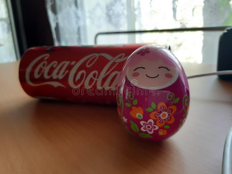 Coca, cola, huevo, cámara, divertida, Coca-Cola imágenes de archivo libres de regalías