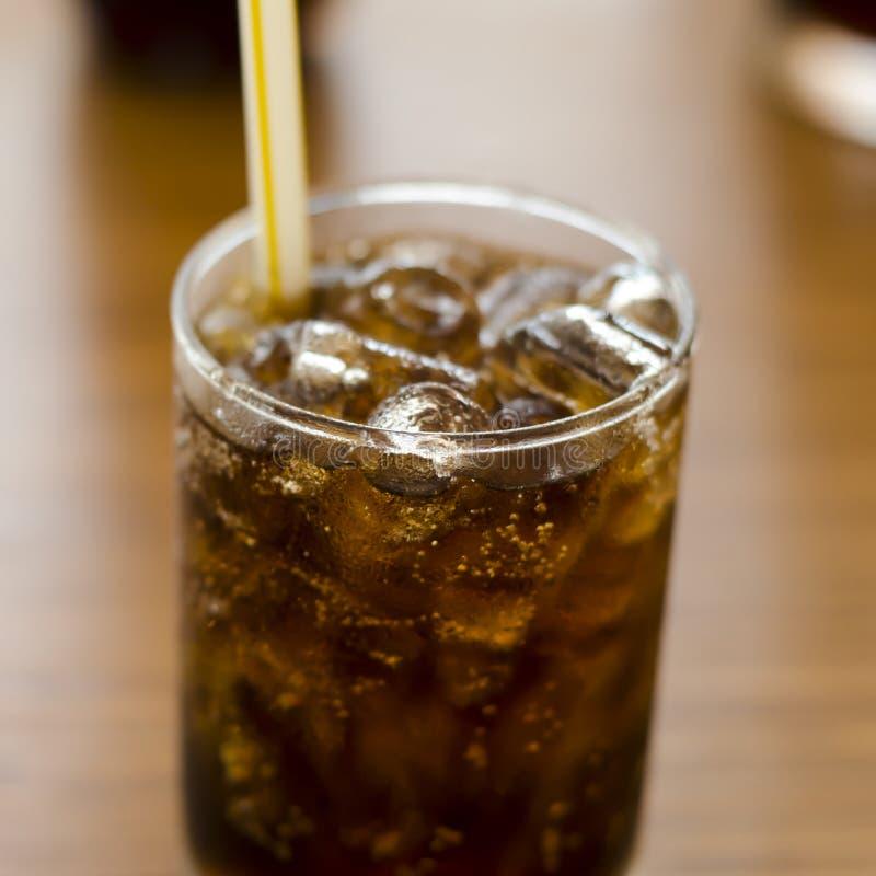 Coca - cola i resturant arkivbild