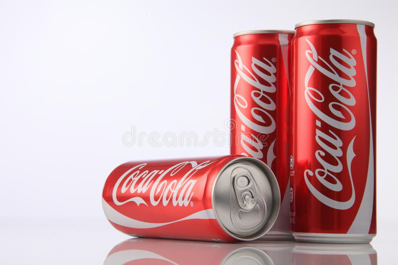 Coca cola. Kuala Lumpur,Malaysia,5th Aug 2016,Coca-Cola is a carbonated soft drink sold in stores, restaurants, and vending machines worldwide. It is produced by royalty free stock image