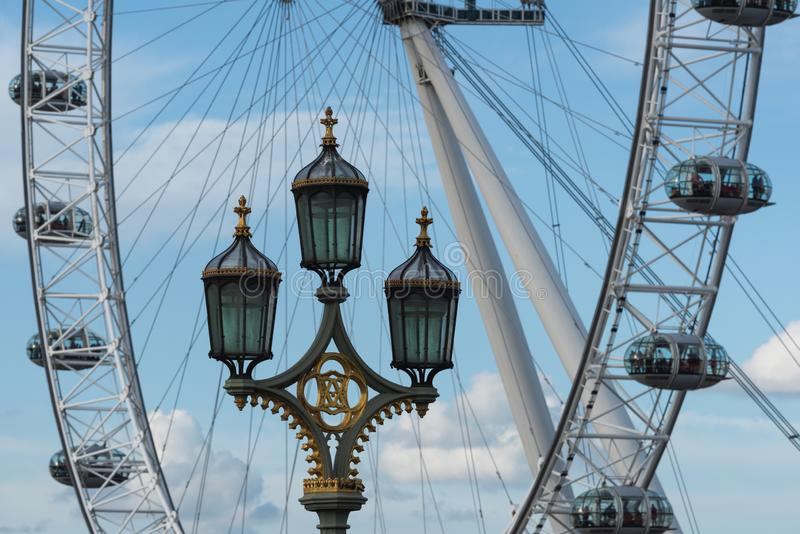 Coca-Cola London Eye - Londen stock fotografie