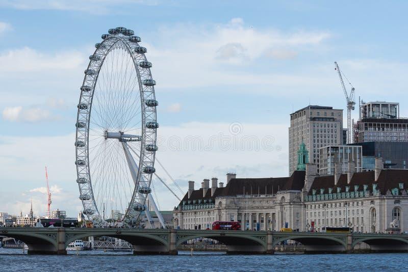 Coca-Cola London Eye - Londres photos stock