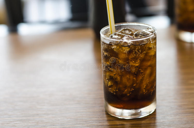 Coca Cola in resturant stockbild