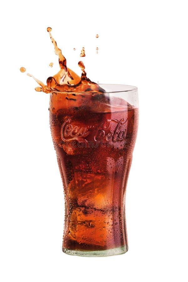 Coca Cola Splash fotografering för bildbyråer