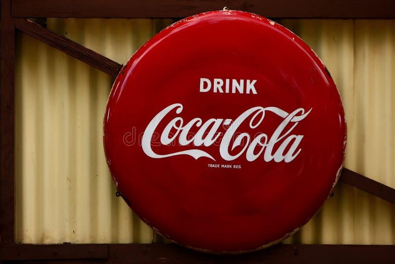 Coca-Cola-teken royalty-vrije stock foto's