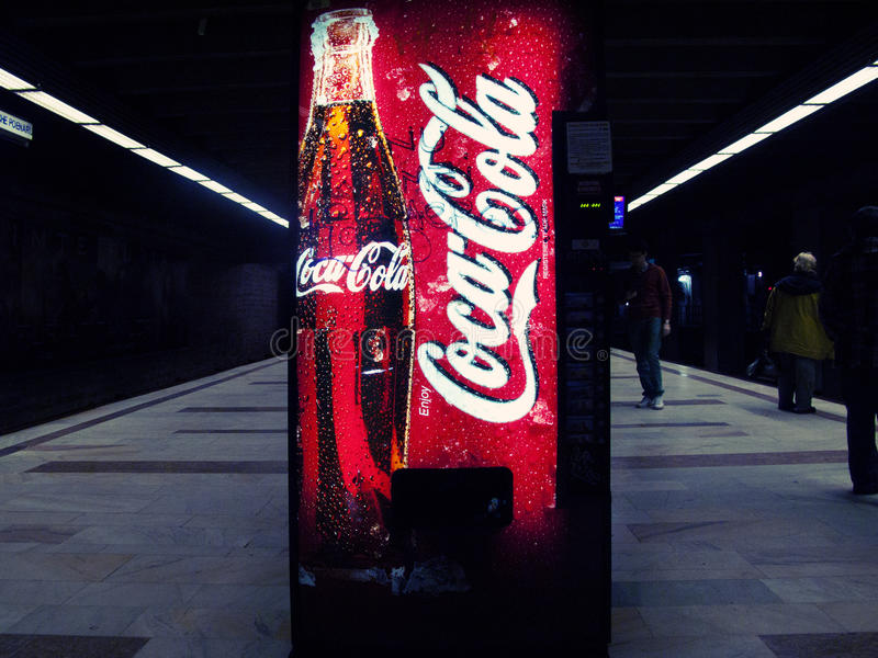 Coca cola vending machine royalty free stock photography