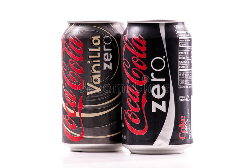 Coca-cola zéro photo stock