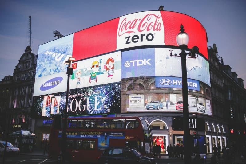 Coca Cola Zero Signage vermelha fotografia de stock