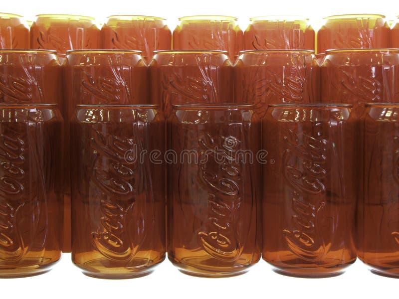 Coca- Colaglas lizenzfreie stockfotografie