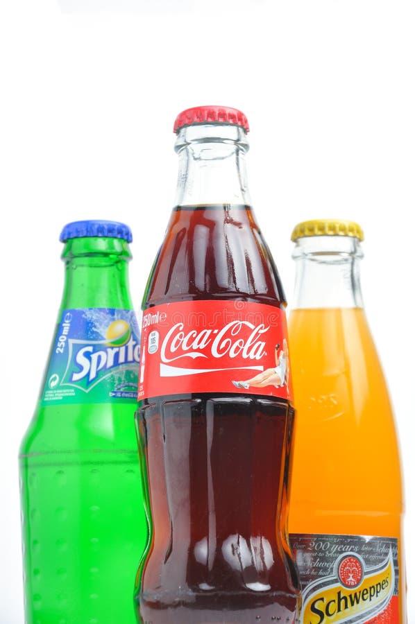 coca - colaschweppes älva royaltyfri foto