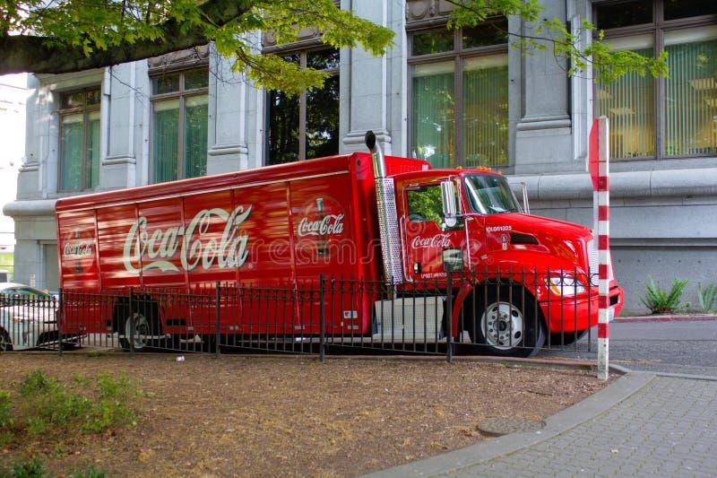 Coca-colavrachtwagen royalty-vrije stock afbeeldingen