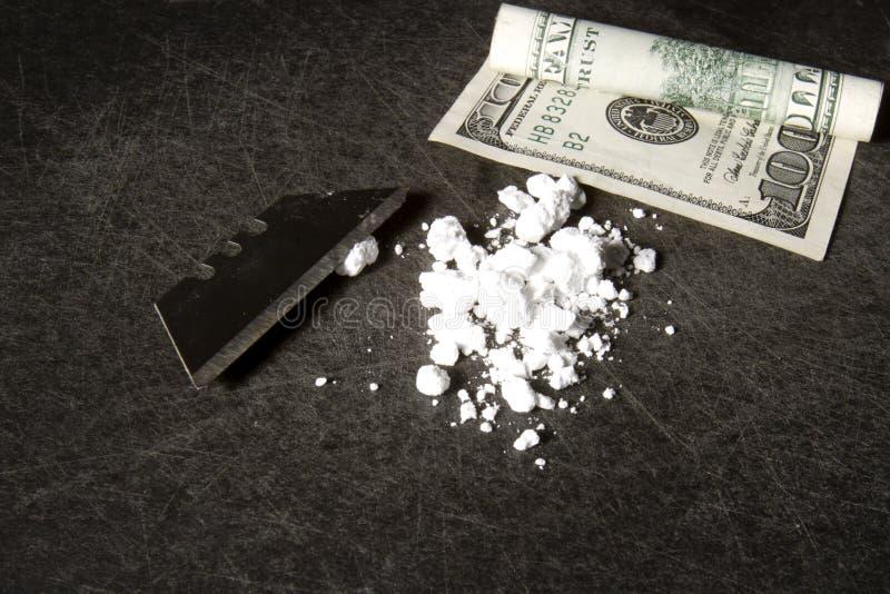 Cocaina fotografia stock
