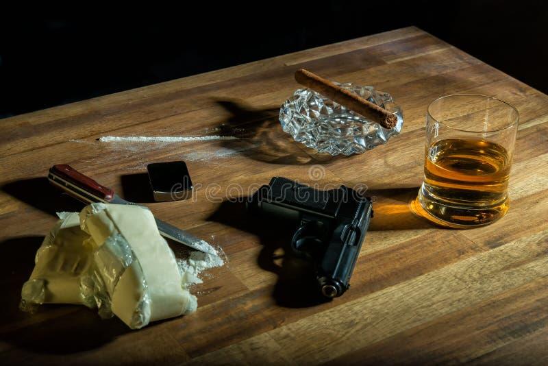 cocaina fotografie stock