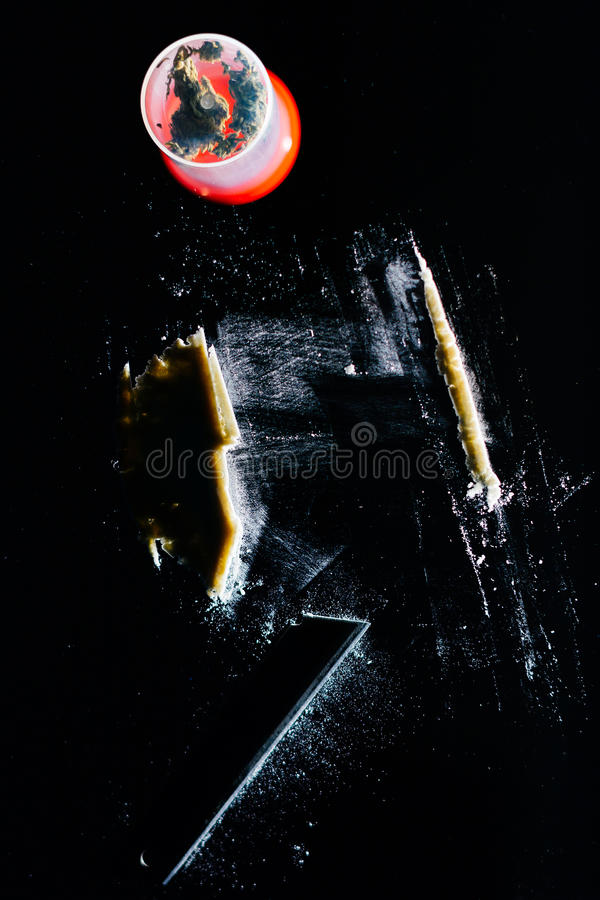Cocaine line royalty free stock photo