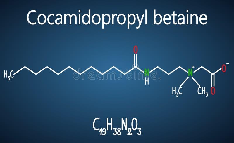 Cocamidopropyl甜菜碱CAPB分子 结构化工形式 库存例证