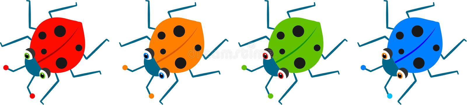 Coccinelles illustration libre de droits