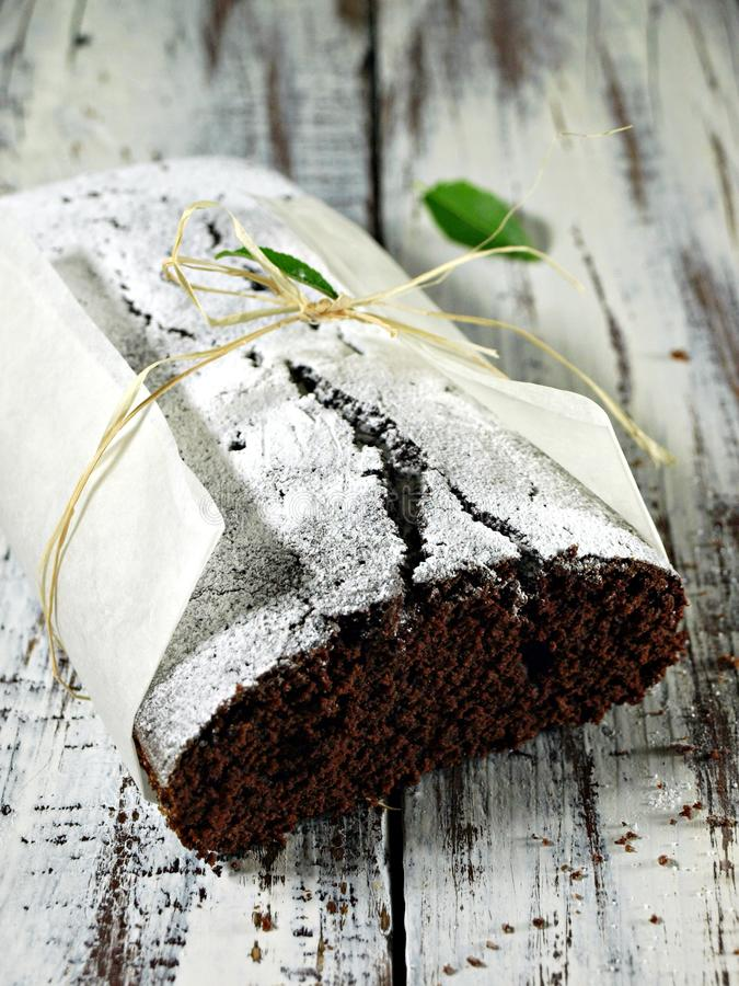 Coccoa cake. Easy, tasty and rich chocolate cake stock image