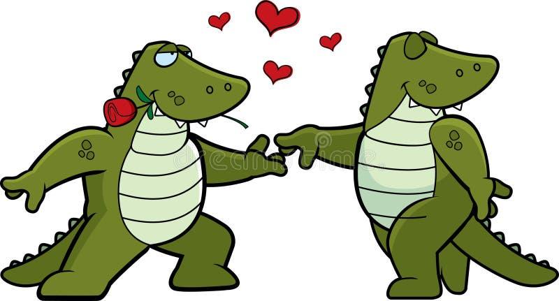 Coccodrillo Romance royalty illustrazione gratis