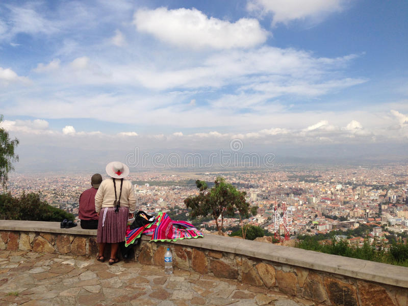 Cochabamba Bolivia. Lookout from Cristo de la Concordia over Cochabamba Bolivia stock image