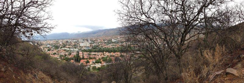 Cochabamba od San Pedro góry obraz stock