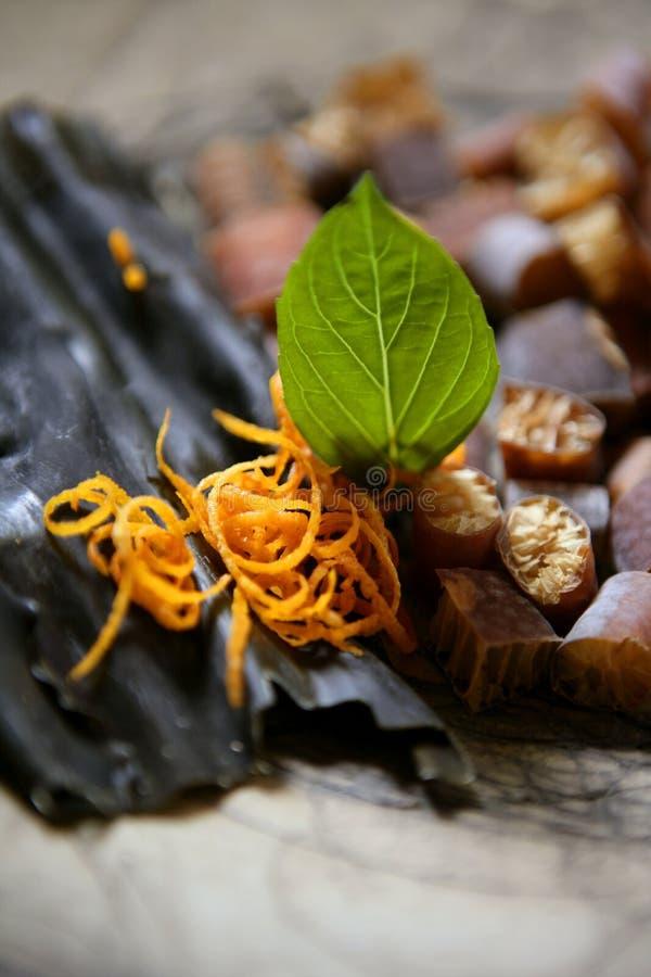 cochayuyo ξηρό φύκι διατροφής kombu φυσικό στοκ εικόνες