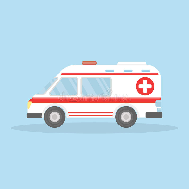 Coche aislado de la ambulancia libre illustration
