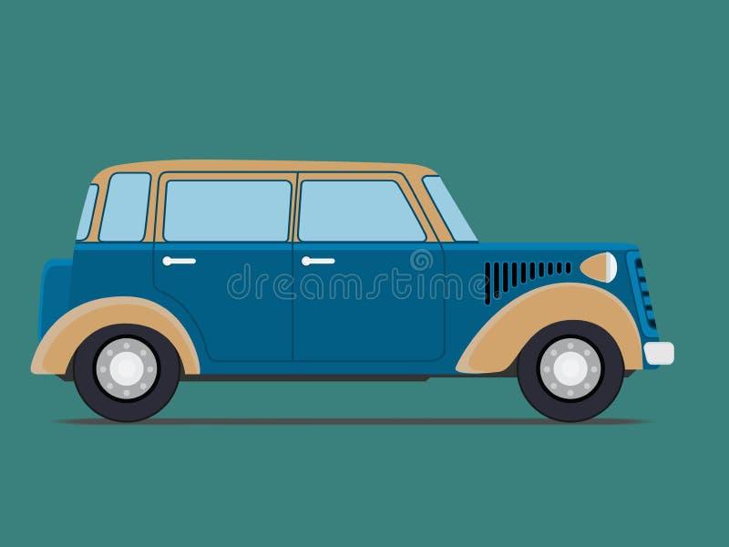 Coche aislado vintage ilustración del vector