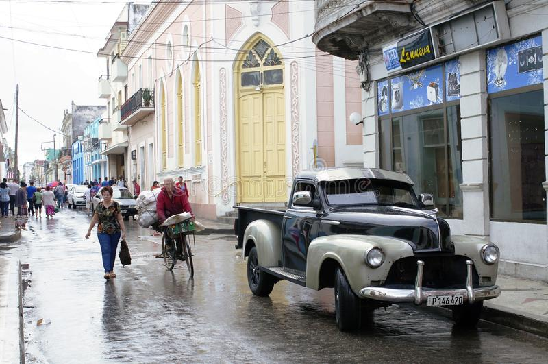 Coche americano clásico en Cuba fotografía de archivo libre de regalías