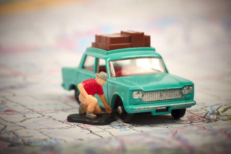 Coche analizado del juguete fotografía de archivo libre de regalías