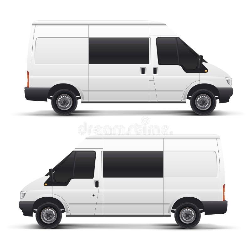 Coche auto blanco del vector stock de ilustración
