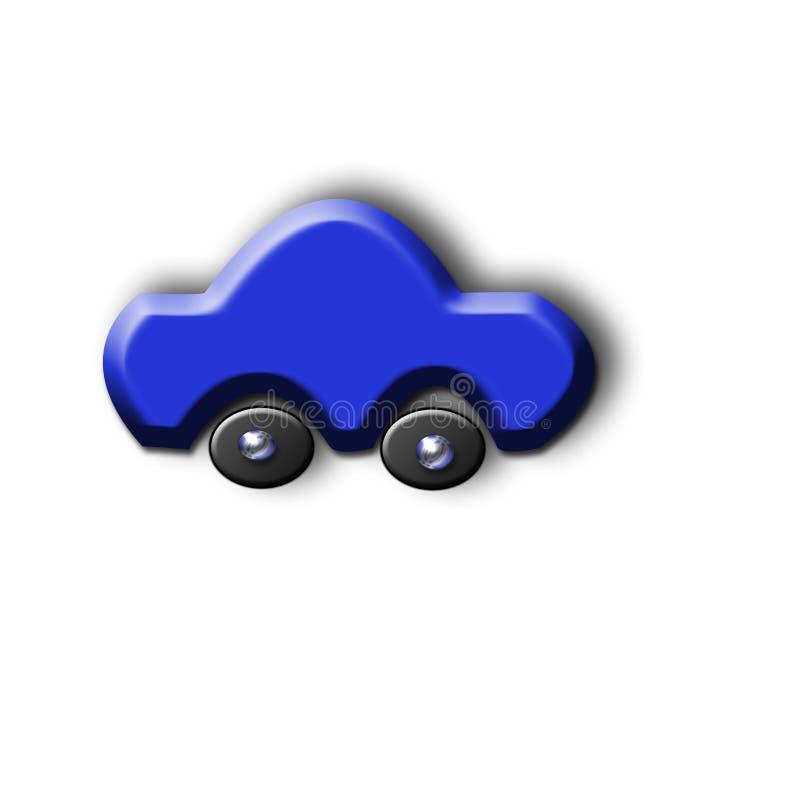 Coche azul imágenes de archivo libres de regalías