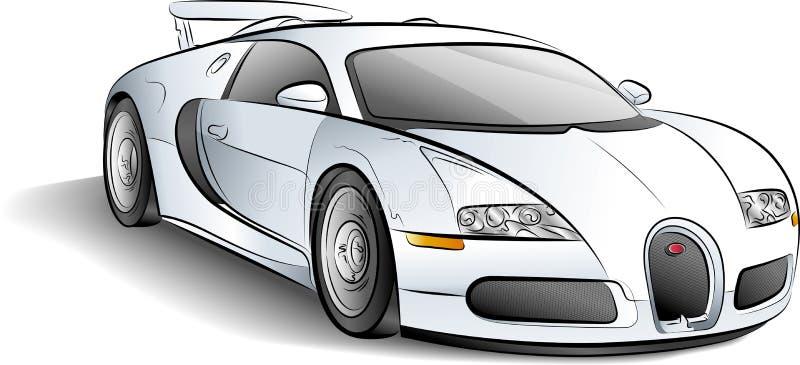 Coche blanco ilustración del vector